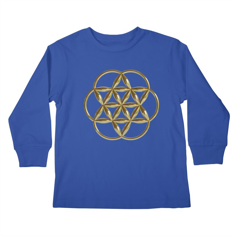 Flowering Seed of Life Au Kids Longsleeve T-Shirt by diamondheart's Artist Shop