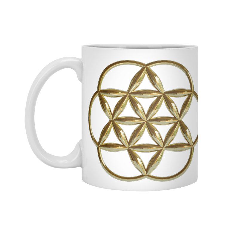 Flowering Seed of Life Au Accessories Standard Mug by diamondheart's Artist Shop