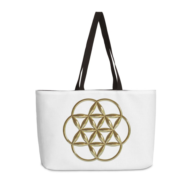 Flowering Seed of Life Au Accessories Weekender Bag Bag by diamondheart's Artist Shop
