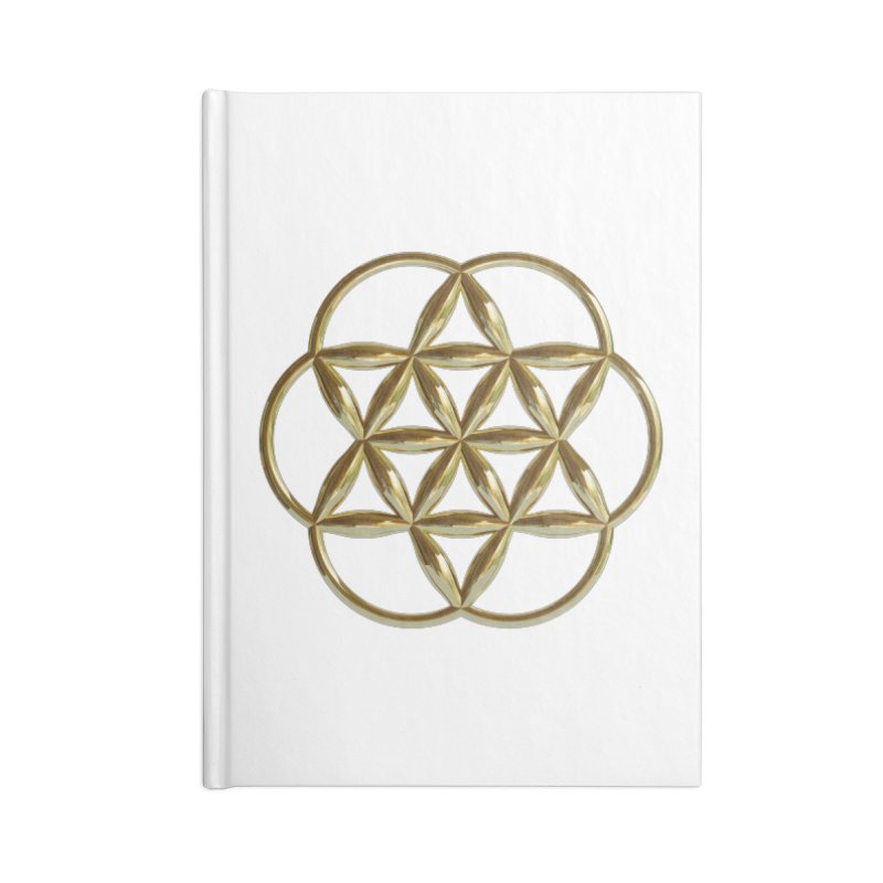 Flowering Seed of Life Au Accessories Notebook by diamondheart's Artist Shop