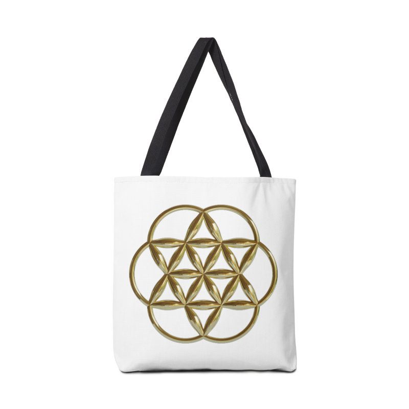 Flowering Seed of Life Au Accessories Tote Bag Bag by diamondheart's Artist Shop