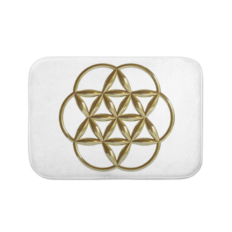 Flowering Seed of Life Au Home Bath Mat by diamondheart's Artist Shop