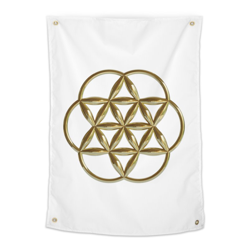Flowering Seed of Life Au Home Tapestry by diamondheart's Artist Shop