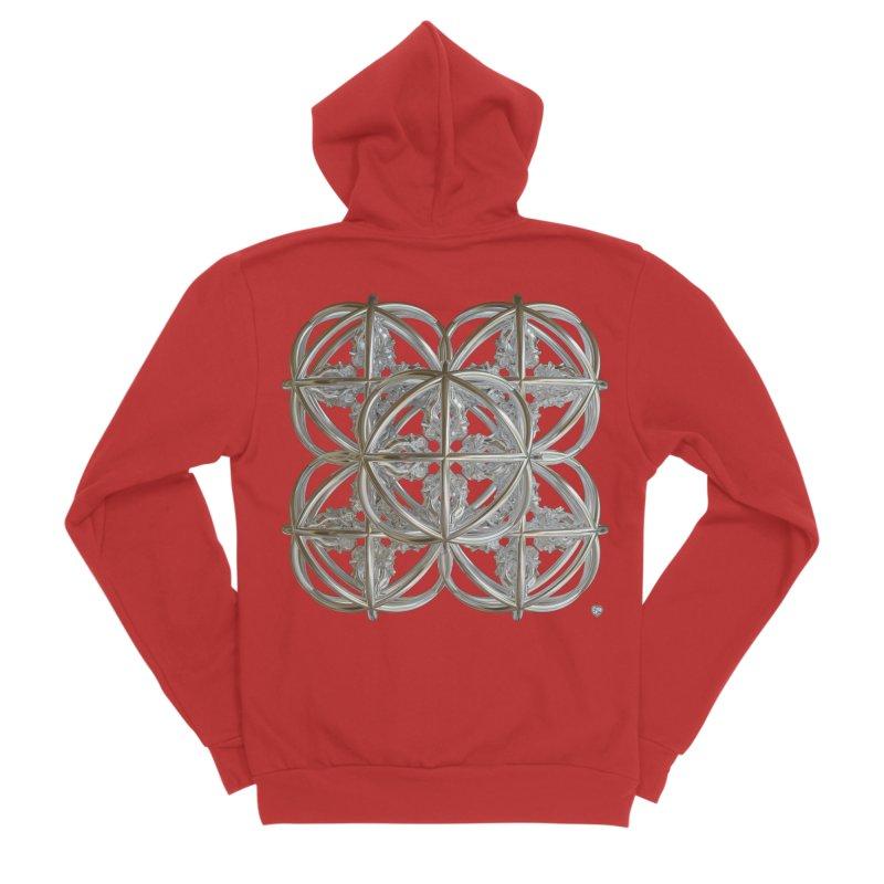 56 Dorje Object Silver v1 Men's Sponge Fleece Zip-Up Hoody by diamondheart's Artist Shop