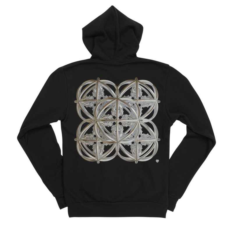 56 Dorje Object Silver v1 Men's Sponge Fleece Zip-Up Hoody by diamondheart's Artist Shop