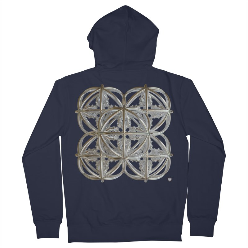 56 Dorje Object Silver v1 Men's French Terry Zip-Up Hoody by diamondheart's Artist Shop