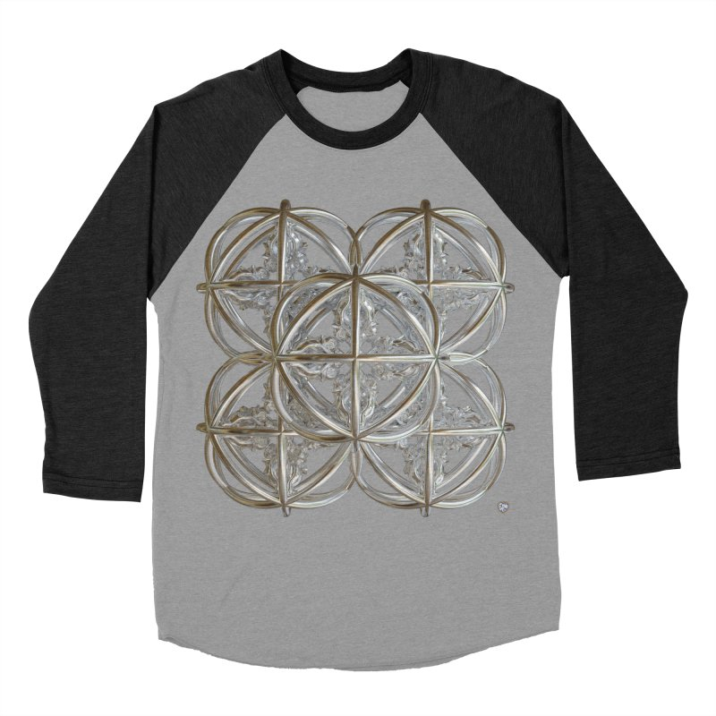 56 Dorje Object Silver v1 Men's Baseball Triblend Longsleeve T-Shirt by diamondheart's Artist Shop