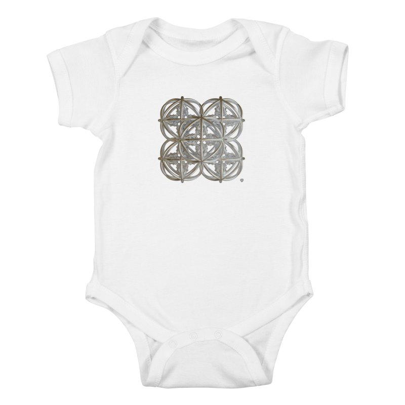 56 Dorje Object Silver v1 Kids Baby Bodysuit by diamondheart's Artist Shop