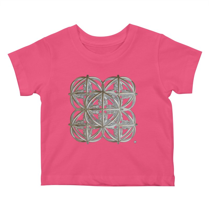 56 Dorje Object Silver v1 Kids Baby T-Shirt by diamondheart's Artist Shop