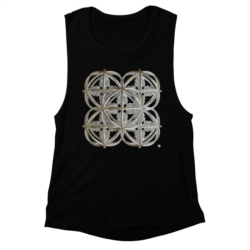 56 Dorje Object Silver v1 Women's Muscle Tank by diamondheart's Artist Shop