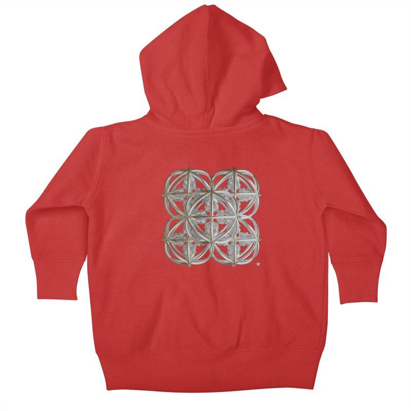 56 Dorje Object Silver v1 Kids Baby Zip-Up Hoody by diamondheart's Artist Shop