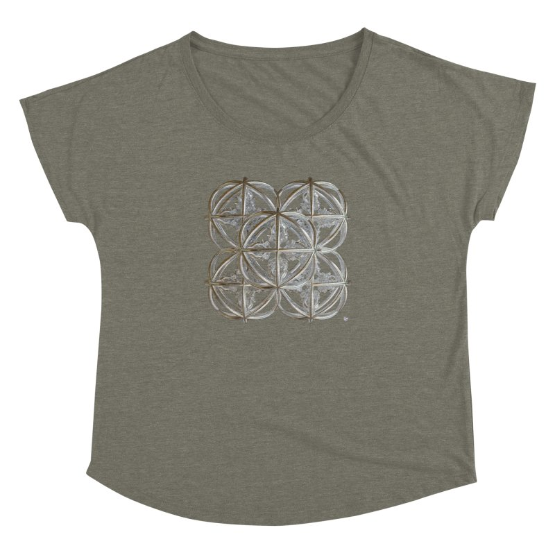 56 Dorje Object Silver v1 Women's Dolman Scoop Neck by diamondheart's Artist Shop