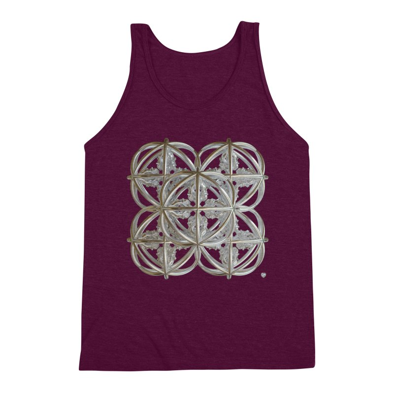 56 Dorje Object Silver v1 Men's Triblend Tank by diamondheart's Artist Shop