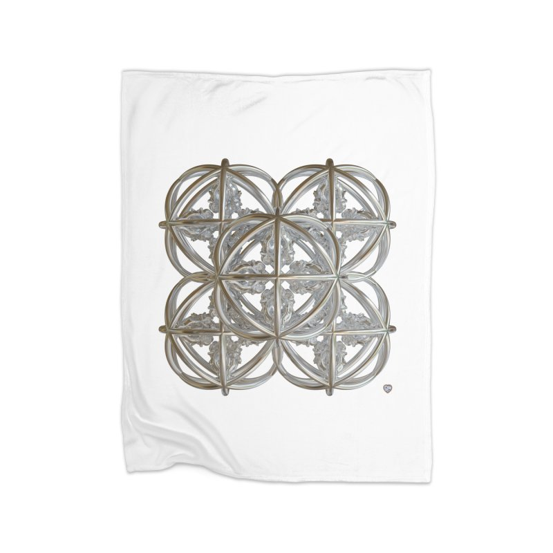 56 Dorje Object Silver v1 Home Fleece Blanket Blanket by diamondheart's Artist Shop