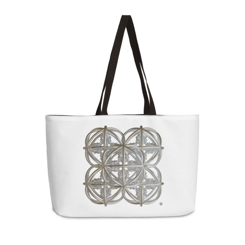 56 Dorje Object Silver v1 Accessories Weekender Bag Bag by diamondheart's Artist Shop