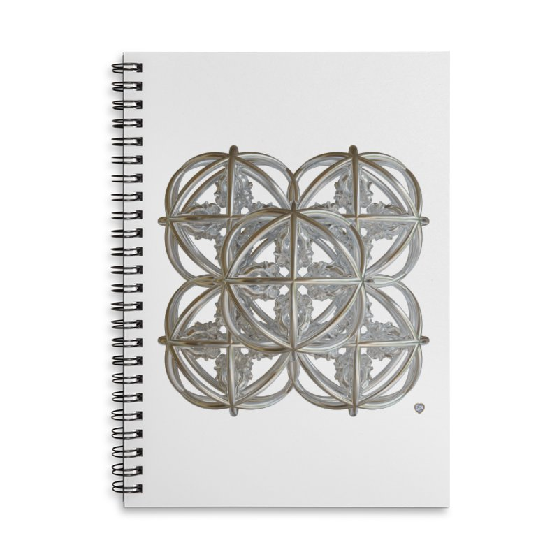 56 Dorje Object Silver v1 Accessories Lined Spiral Notebook by diamondheart's Artist Shop