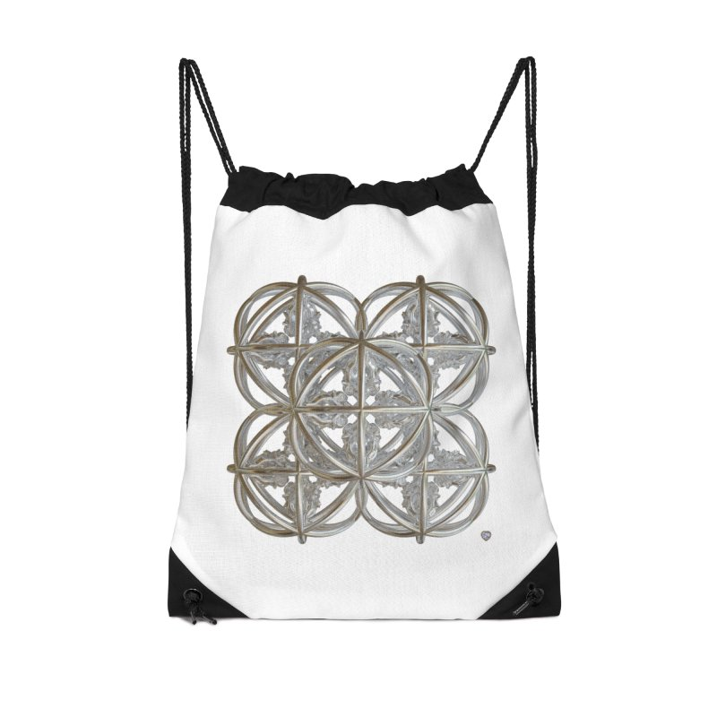 56 Dorje Object Silver v1 Accessories Drawstring Bag Bag by diamondheart's Artist Shop
