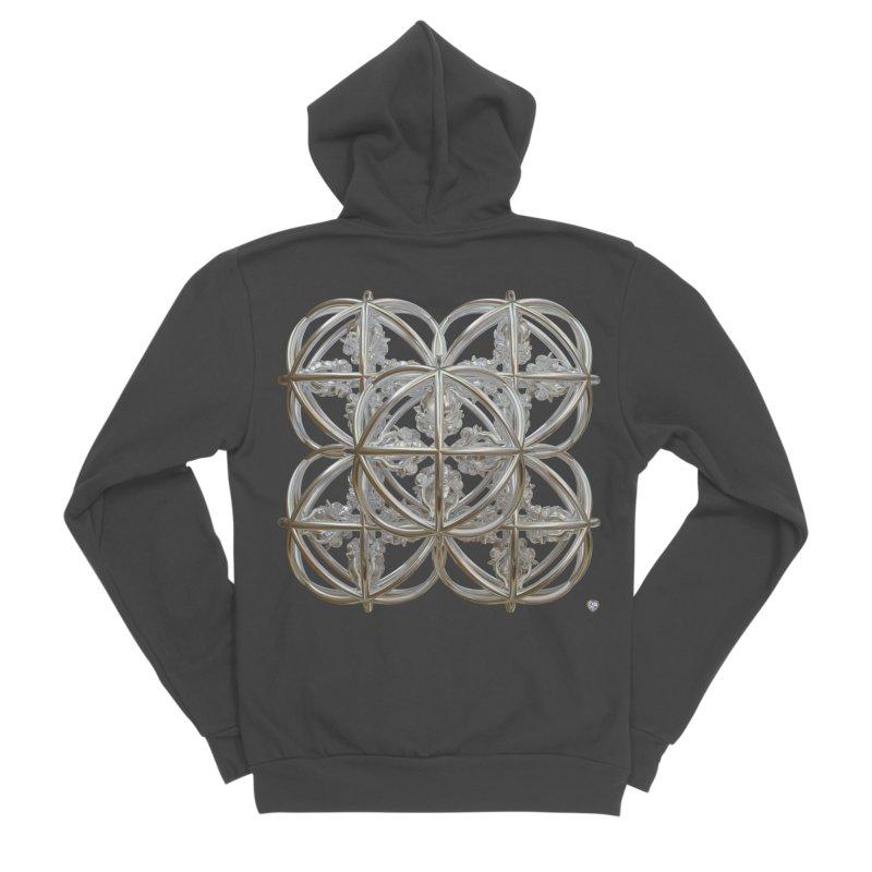 56 Dorje Object Silver Women's Sponge Fleece Zip-Up Hoody by diamondheart's Artist Shop