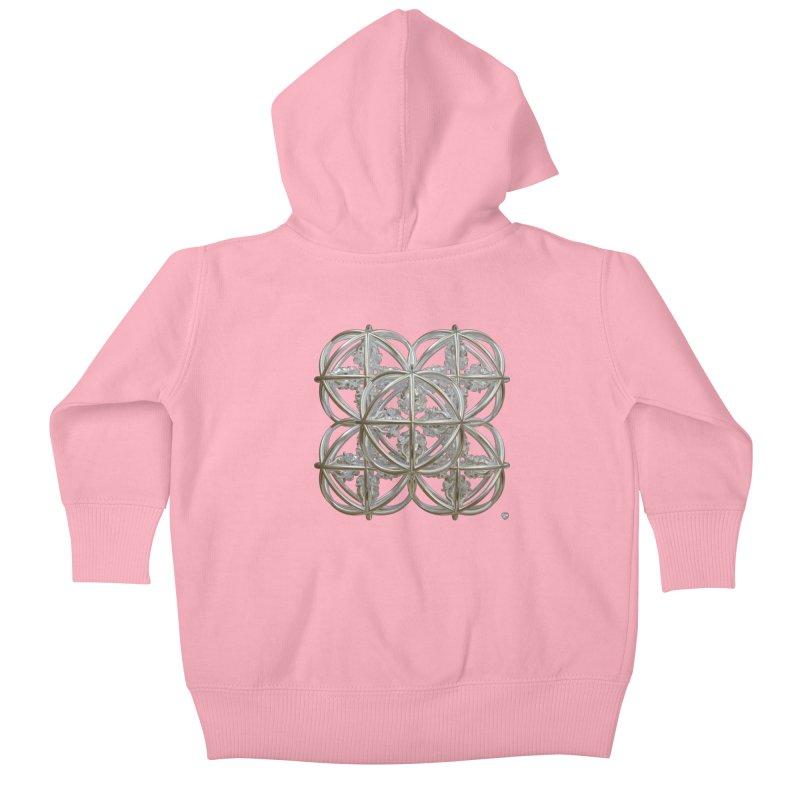56 Dorje Object Silver Kids Baby Zip-Up Hoody by diamondheart's Artist Shop
