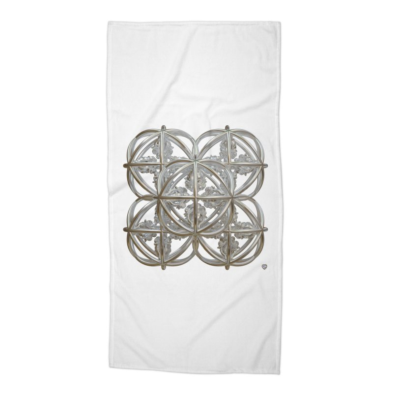 56 Dorje Object Silver Accessories Beach Towel by diamondheart's Artist Shop