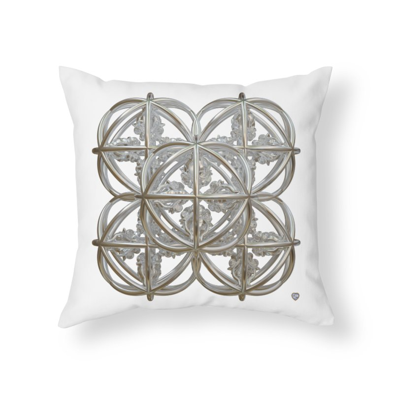 56 Dorje Object Silver Home Throw Pillow by diamondheart's Artist Shop