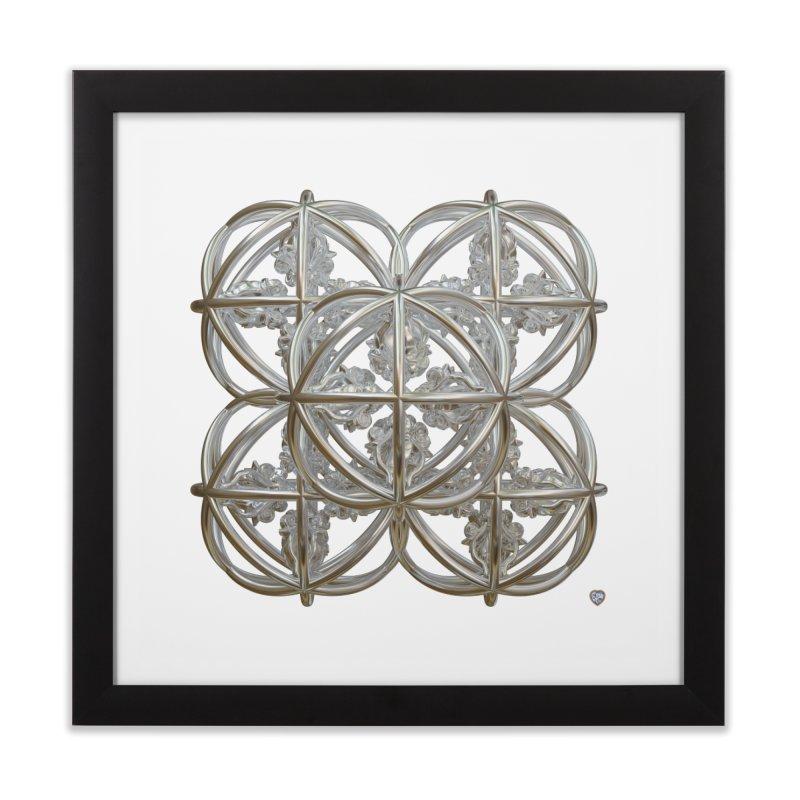 56 Dorje Object Silver Home Framed Fine Art Print by diamondheart's Artist Shop