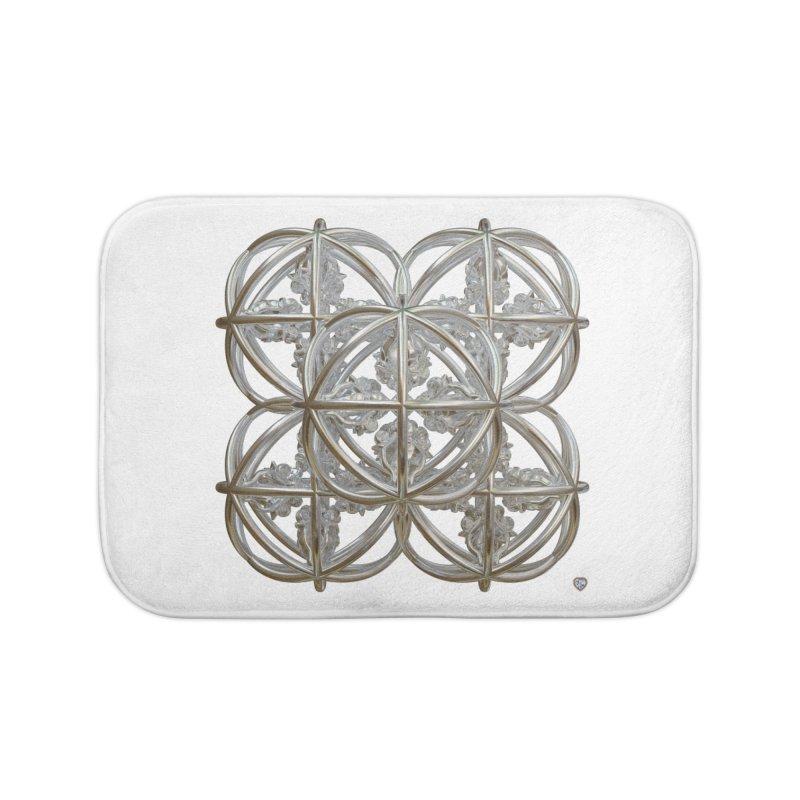56 Dorje Object Silver Home Bath Mat by diamondheart's Artist Shop