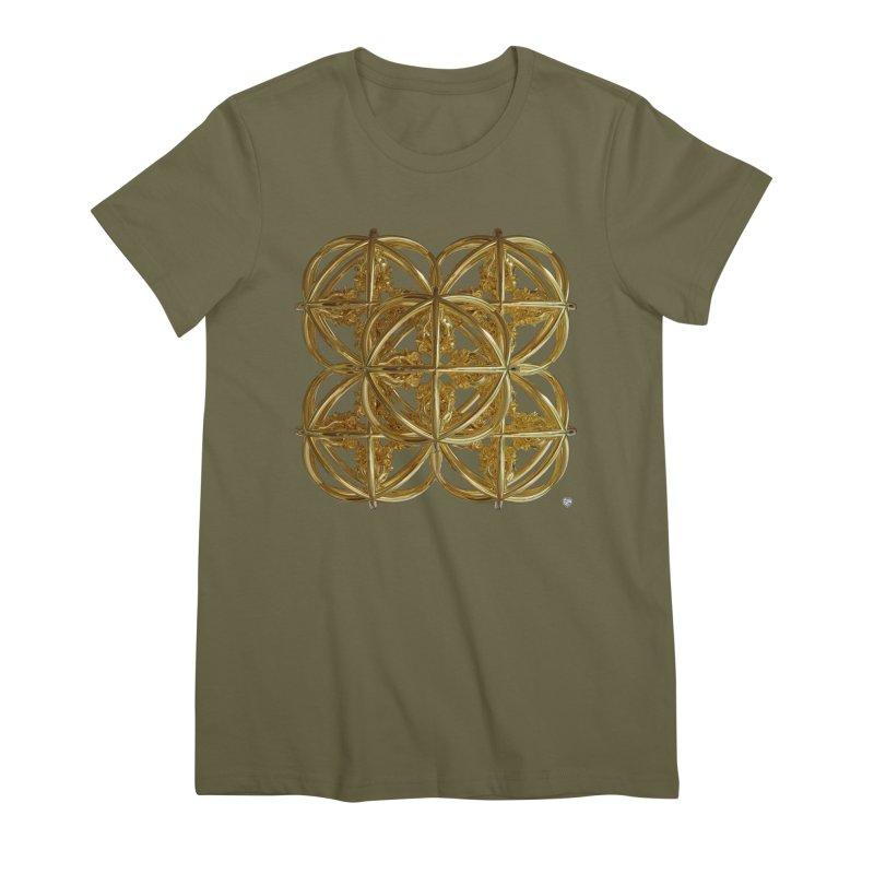 56 Dorje Object Gold v1 Women's Premium T-Shirt by diamondheart's Artist Shop