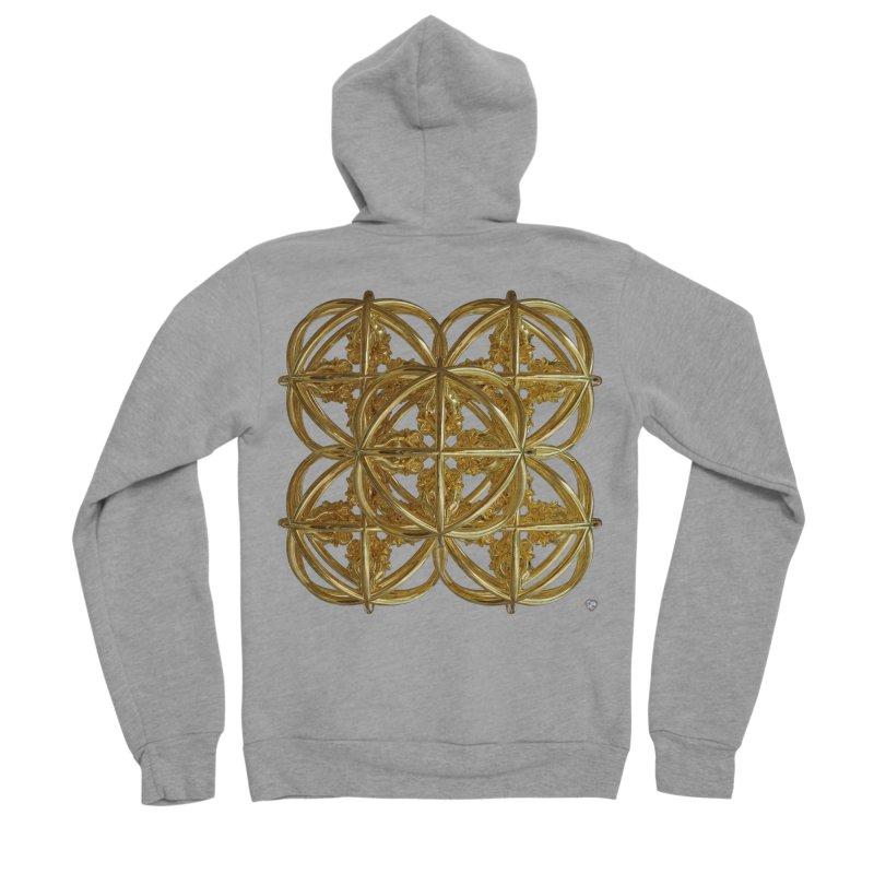 56 Dorje Object Gold v1 Men's Sponge Fleece Zip-Up Hoody by diamondheart's Artist Shop