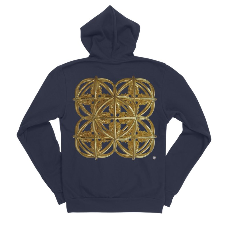 56 Dorje Object Gold v1 Men's Sponge Fleece Zip-Up Hoody by diamondheart's Artist Shop