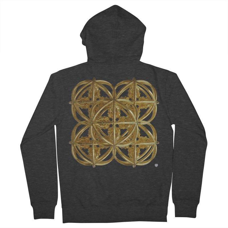 56 Dorje Object Gold v1 Men's French Terry Zip-Up Hoody by diamondheart's Artist Shop