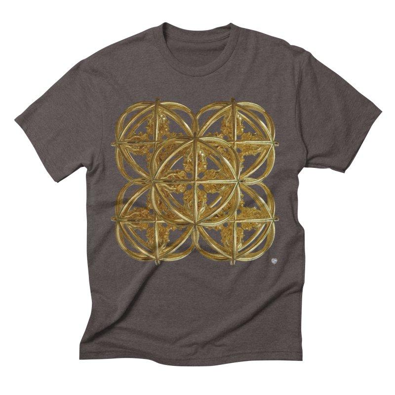 56 Dorje Object Gold v1 Men's Triblend T-Shirt by diamondheart's Artist Shop