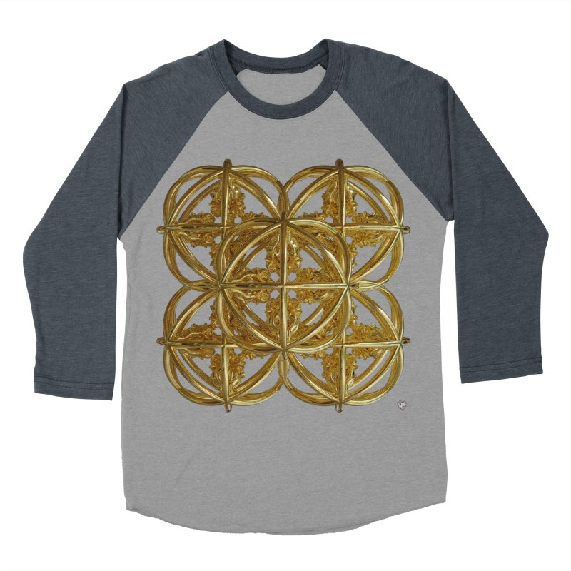 56 Dorje Object Gold v1 Men's Baseball Triblend Longsleeve T-Shirt by diamondheart's Artist Shop