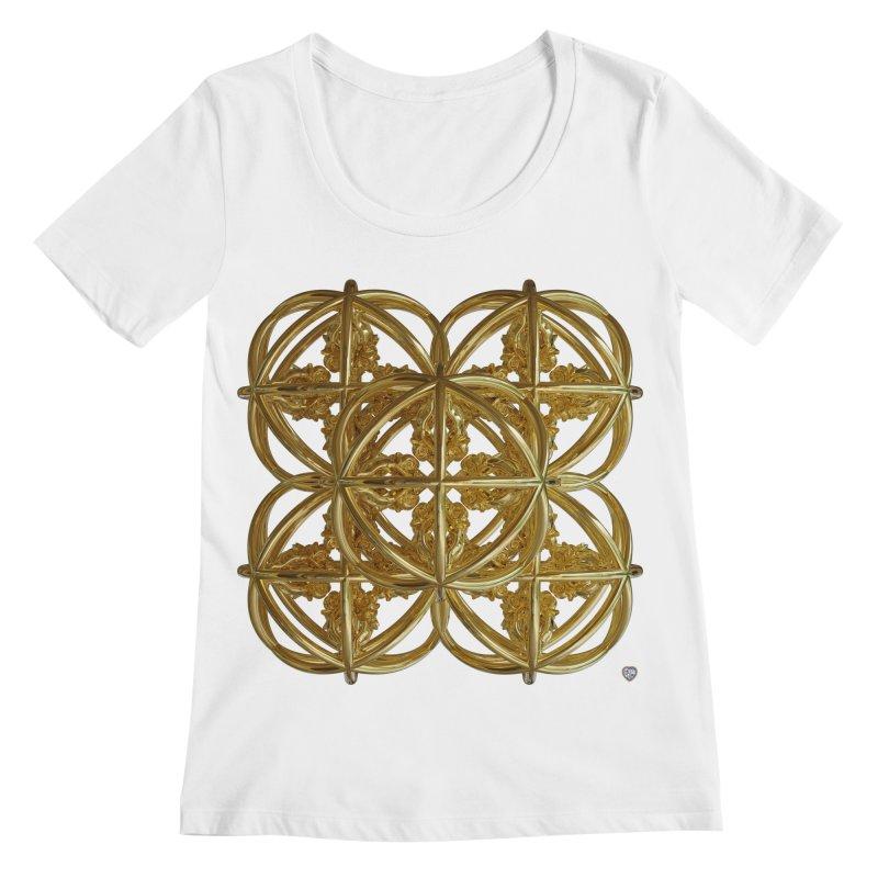 56 Dorje Object Gold v1 Women's Regular Scoop Neck by diamondheart's Artist Shop