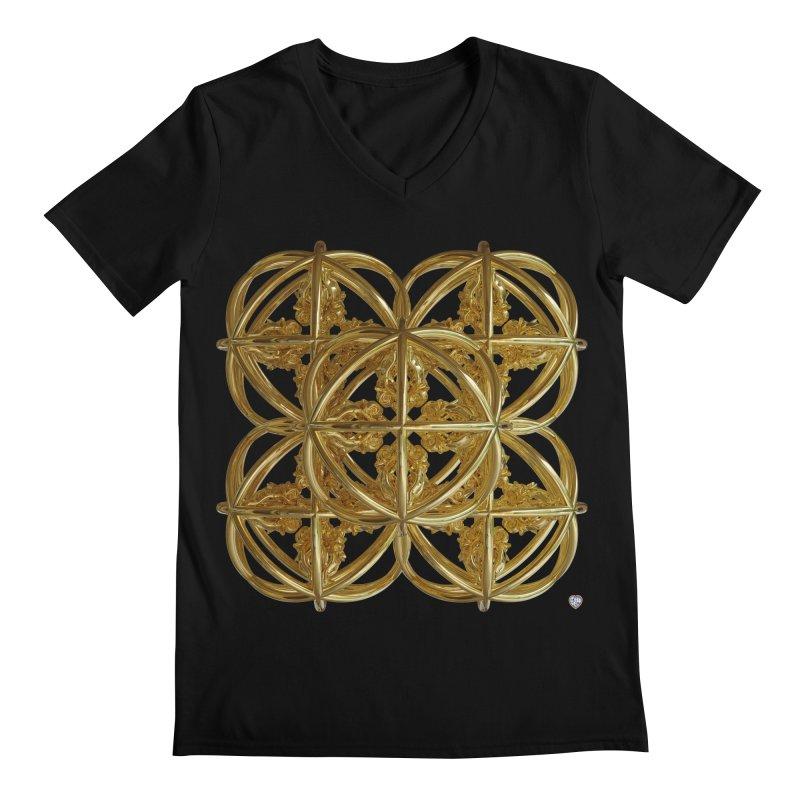 56 Dorje Object Gold v1 Men's Regular V-Neck by diamondheart's Artist Shop