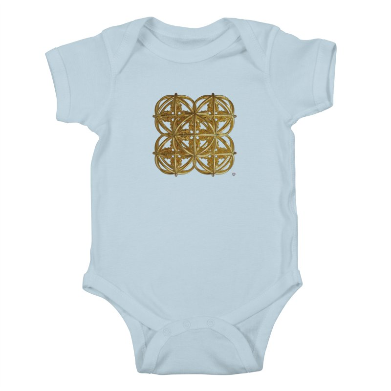 56 Dorje Object Gold v1 Kids Baby Bodysuit by diamondheart's Artist Shop