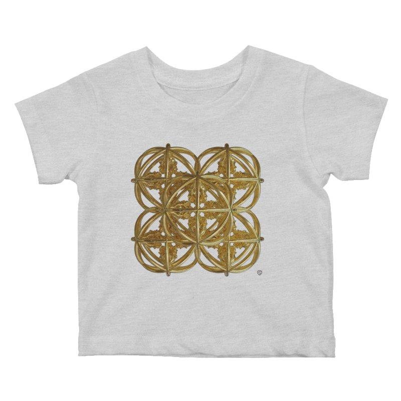 56 Dorje Object Gold v1 Kids Baby T-Shirt by diamondheart's Artist Shop