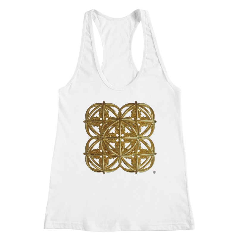 56 Dorje Object Gold v1 Women's Racerback Tank by diamondheart's Artist Shop