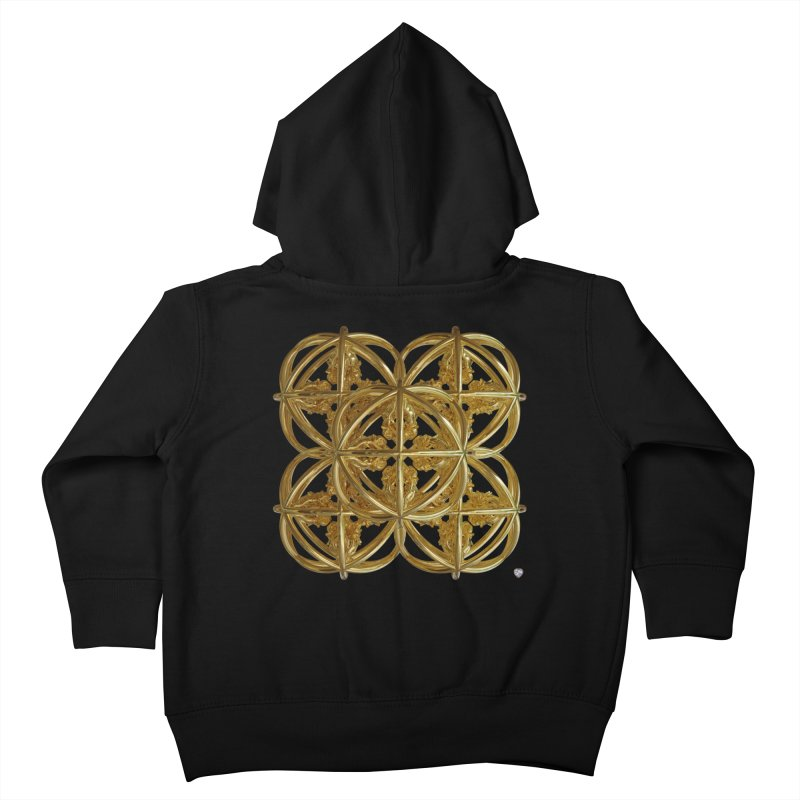 56 Dorje Object Gold v1 Kids Toddler Zip-Up Hoody by diamondheart's Artist Shop