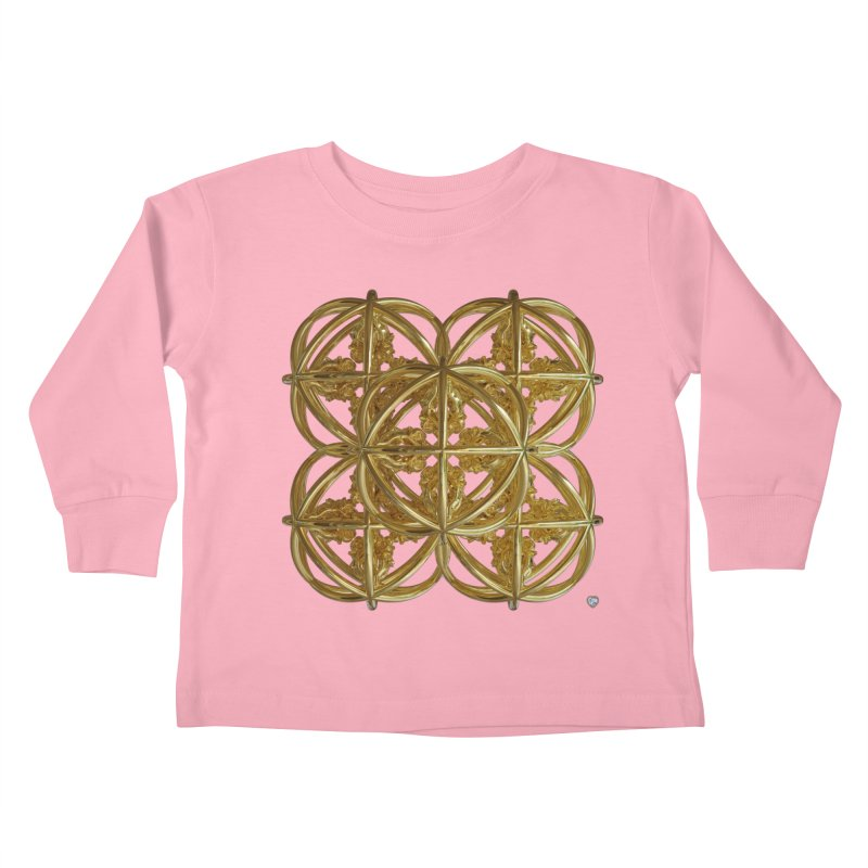 56 Dorje Object Gold v1 Kids Toddler Longsleeve T-Shirt by diamondheart's Artist Shop