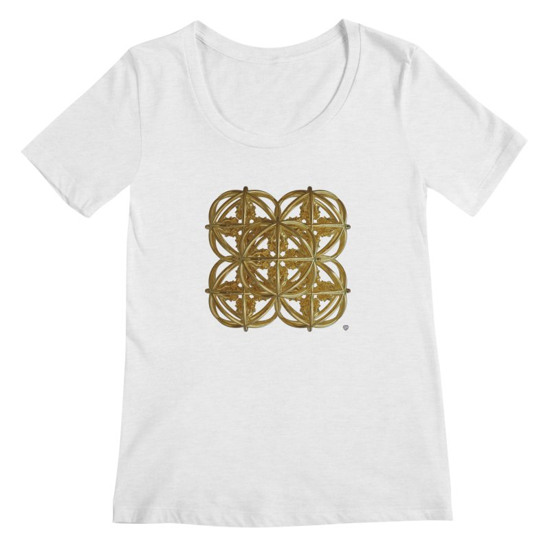 56 Dorje Object Gold v1 Women's Scoop Neck by diamondheart's Artist Shop