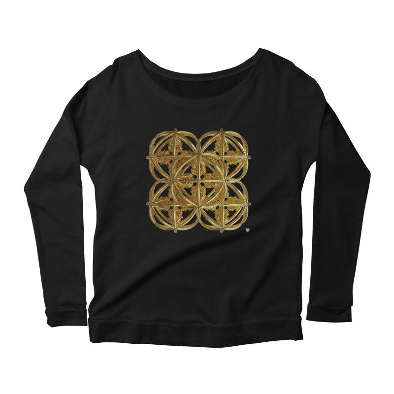 56 Dorje Object Gold v1 Women's Scoop Neck Longsleeve T-Shirt by diamondheart's Artist Shop