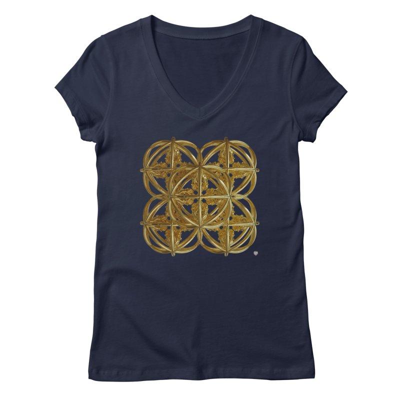 56 Dorje Object Gold v1 Women's Regular V-Neck by diamondheart's Artist Shop
