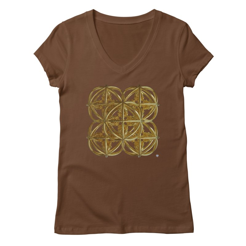 56 Dorje Object Gold v1 Women's Regular V-Neck by diamondheart's Artist Shop