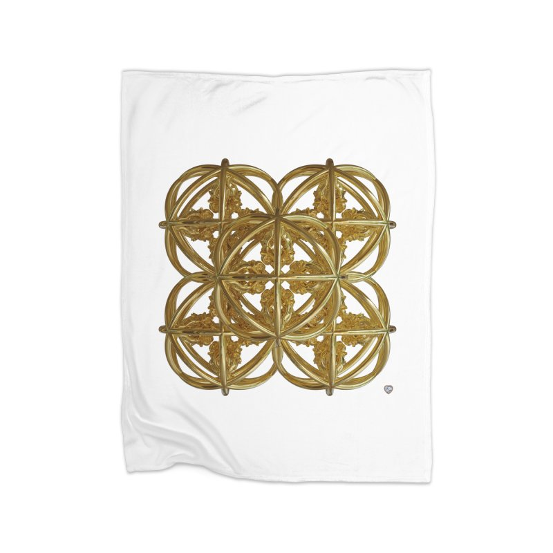 56 Dorje Object Gold v1 Home Fleece Blanket Blanket by diamondheart's Artist Shop