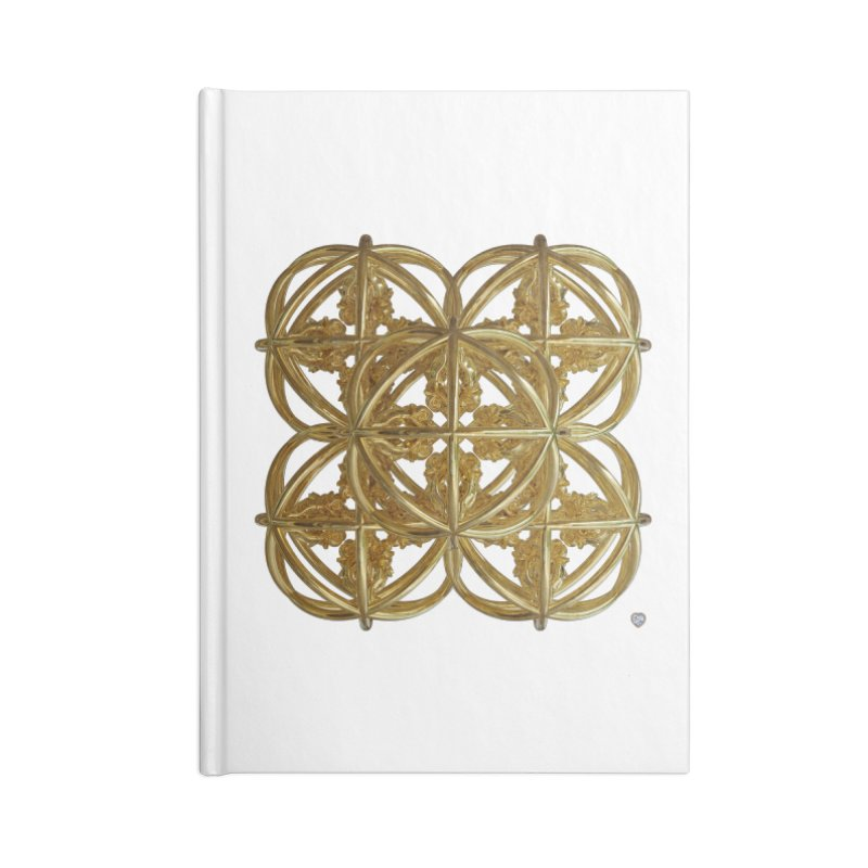 56 Dorje Object Gold v1 Accessories Blank Journal Notebook by diamondheart's Artist Shop