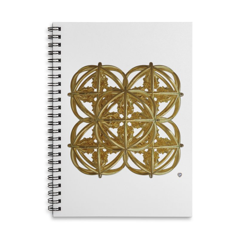 56 Dorje Object Gold v1 Accessories Lined Spiral Notebook by diamondheart's Artist Shop
