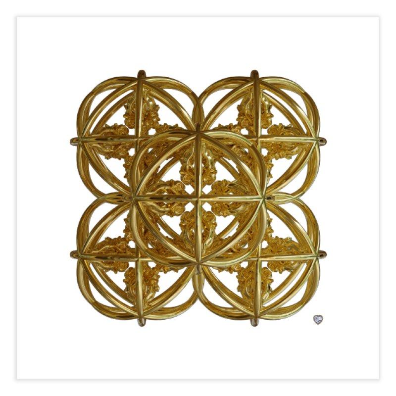 56 Dorje Object Gold v1 Home Fine Art Print by diamondheart's Artist Shop