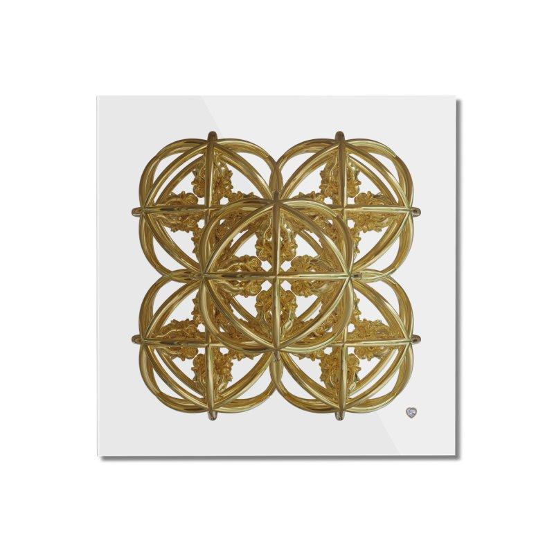 56 Dorje Object Gold v1 Home Mounted Acrylic Print by diamondheart's Artist Shop