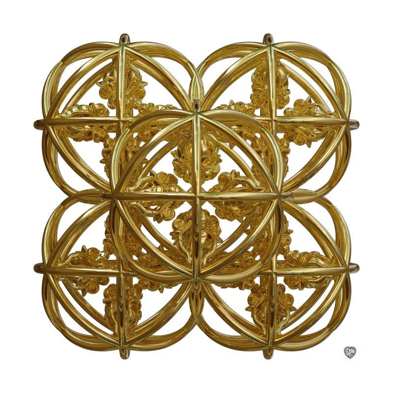 56 Dorje Object Gold by diamondheart's Artist Shop
